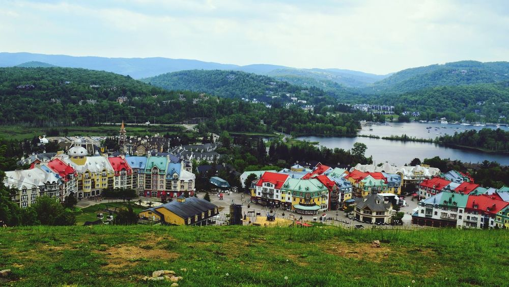 Sunny day at Mont Tremblant EyeEmNewHere EyeEm Selects Grass Outdoors Multi Colored Day Sky Places