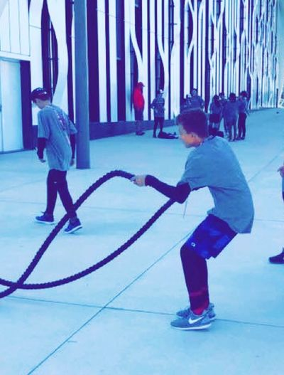 Hockeylife Hockey Trainning Photography Childhood Child Full Length Men Real People Offspring Lifestyles Males  Boys Casual Clothing Girls Females Women Leisure Activity People Architecture Sport Standing Two People Innocence