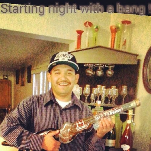 """Selfie Partynights Weekend Laboy LaKings westcoastfinest LosAngeles Southerncal werealkings liquor rifflesmilenowcrynever casualattire """"Enjoy your night everyone about 2 party !! Cheers !!"""