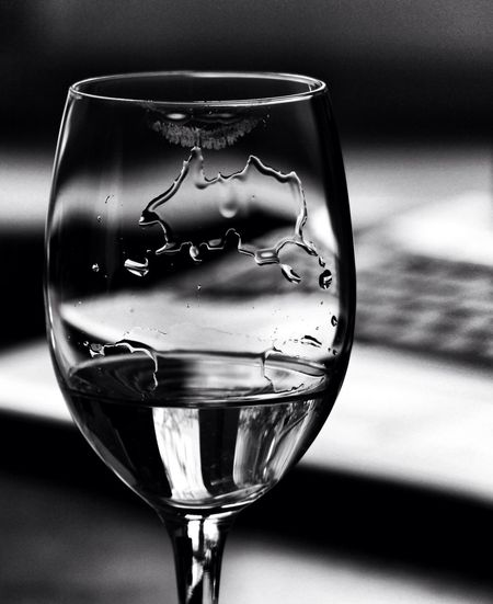 Blackandwhite Monochrome Glass Texture Drops Whitewine Bnw Lunchtime Lipstick