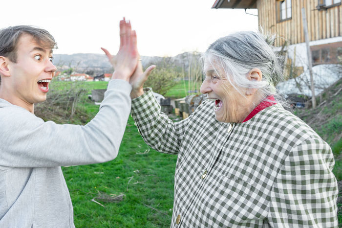 Almshouses Bavaria Bavarian People Bavarian Tradition Family Family❤ Grandma Grandma And Grandson Happy Happy :) Happy People Having Fun Together Old And Young Old People People Together Retirement Together Togetherness Young And Old