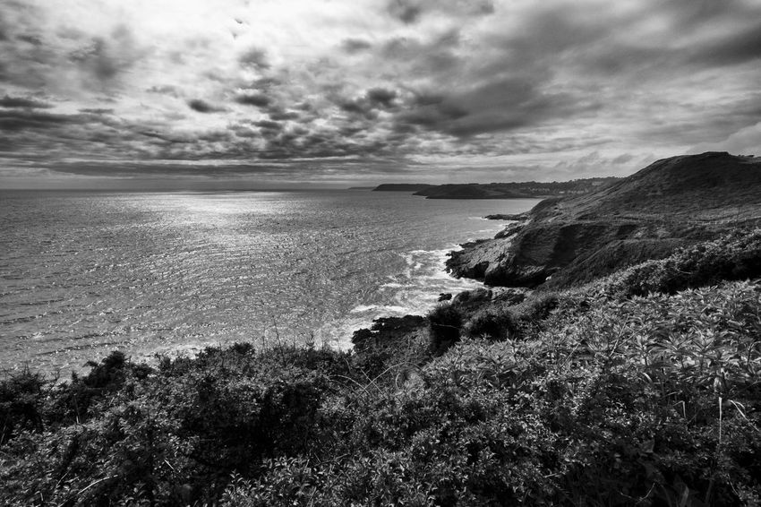Langland Bay. Swansea, Wales 2016 ivandimarcophotography.com Beauty In Nature Blackandwhite Cloud - Sky Coastline Day Grass Horizon Over Water Idyllic Landscape Langland Bay Nature No People Non-urban Scene Outdoors Overcast Remote Rock Formation Scenics Sea Seascape Shore Sky Tranquil Scene Tranquility Water