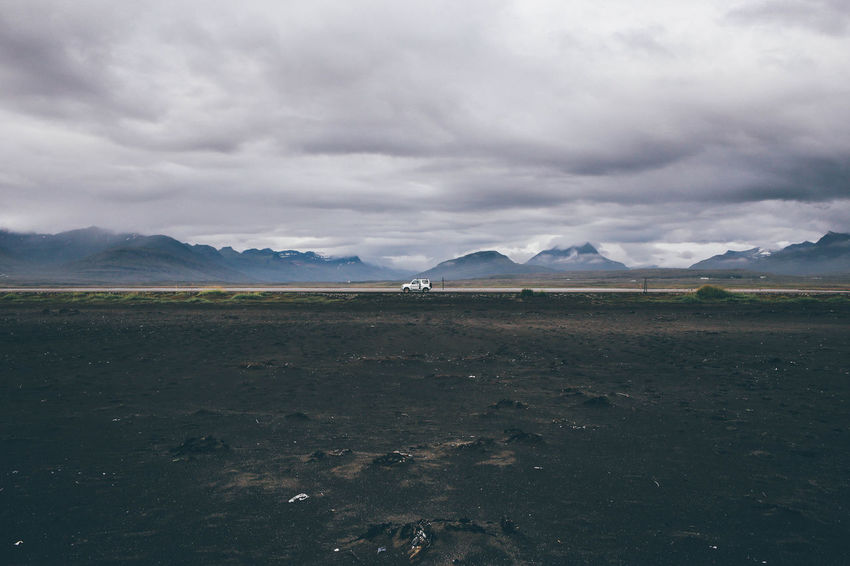 Beauty In Nature Car Cloud - Sky Day Horizon Over Land Iceland Landscape Mountain Mountain Range Nature Nature No People Non-urban Scene Offroad Outdoors Remote Scenics Sky Tranquil Scene Tranquility Weather