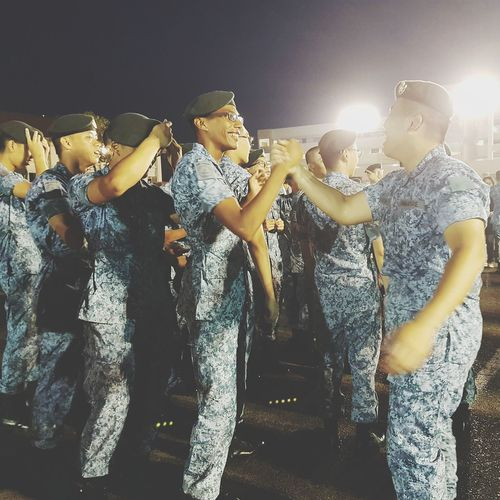 Elation Sembawang Camp Sg_streetphotography Streetphotography Basic Military Training Graduates Bnwsingapore Bnwstreetphotography Bnwphotography 7 Sept 2017 Soldiers Singapore