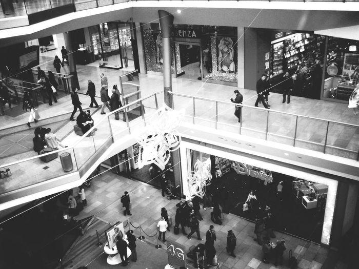 Shopping Mall Shopping Random People Building Blackandwhite Birmingham Birminghambullring