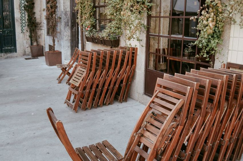 Chairs Architecture Built Structure Chair Day Empty Furniture No People Outdoors Seat Table Tree Wood - Material