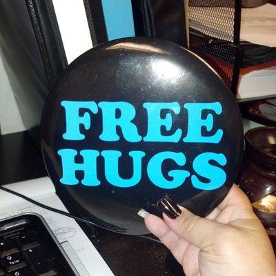 I give good hugs Random Friday HappyFriday Hugs free bored work workinghard lol