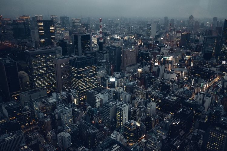 Tokyo from above Cityscape Skyscraper Architecture City Modern Aerial View No People Building Exterior Tall Tokyo Tokyo,Japan Tokyo Photography Fresh On Market 2017