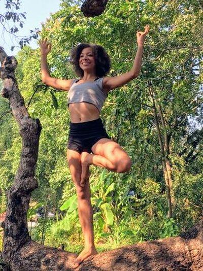 Yoga Yoga Practice Yoga Position My Lovely Daughter Yoga In Nature Tree Inner Power