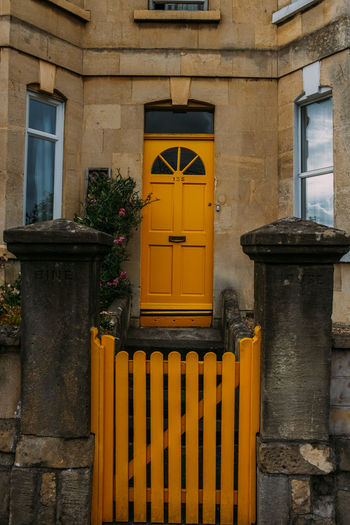Architecture Gate Built Structure Door Entrance House Railing Small House Yellow