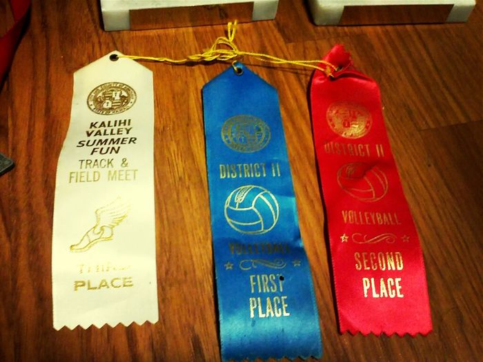 Volleyball 1st En 2nd Place , 2 Yearsz In A Row En Baseball Throw Track & Field Meet , Third Place Outa Atleast 30 Or Mor Peopo ;) Cheeeeeee' .