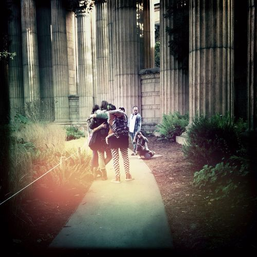 Friends in The Palace Of Fine Arts, SF Impossible Moments