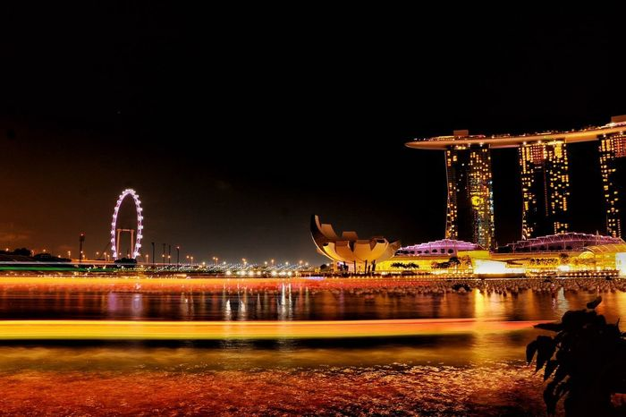 Singapore marina night