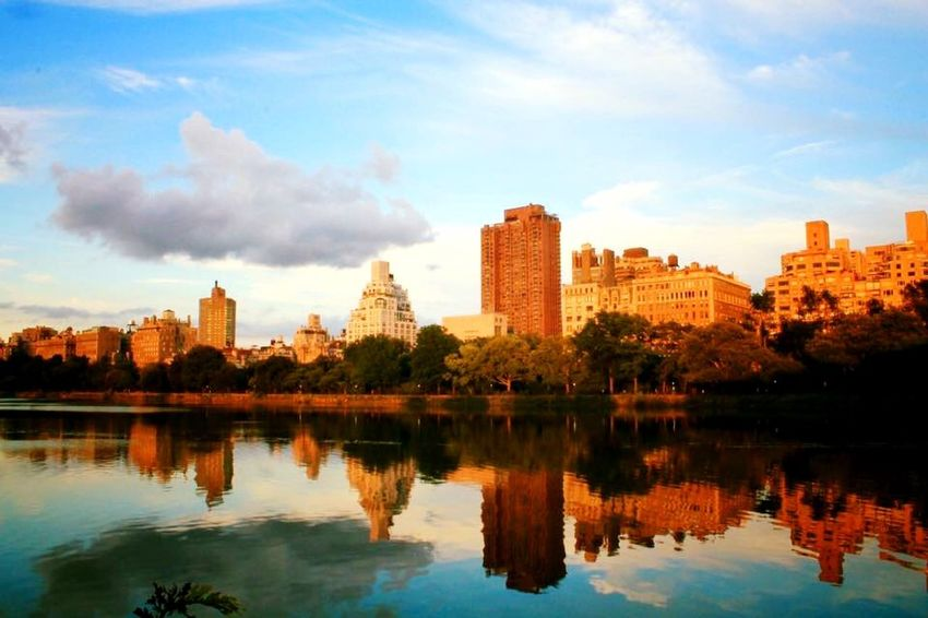 I Heart New York Reservoir Reflections New York NYC NYC Photography Photography Photooftheday Taking Photos Summer Water Reflections Canon