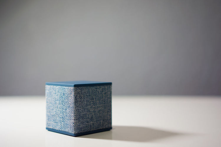 Close-Up Of Speaker On Table