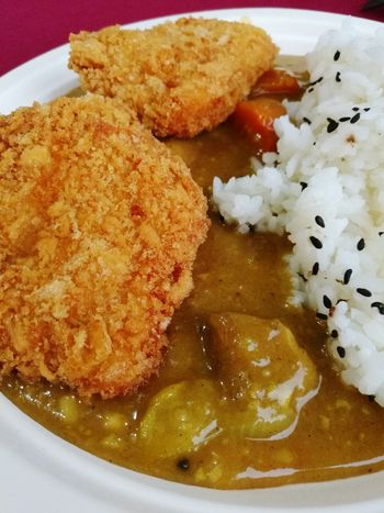Japanese Curry Katsu Food Plate Ready-to-eat Close-up Food And Drink Serving Size Indoors  Meal Freshness No People Indian Food Healthy Eating Day