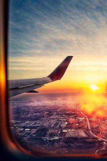 Sunrise_sunsets_aroundworld Sunrise And Clouds Sunrise Airplaneview Airplane Wing Wing Vacation Transportation Aerial View Perspective Airplane Window Airplane Sky Sunset Scenics - Nature Beauty In Nature Cloud - Sky Orange Color Nature Horizon Tranquility Tranquil Scene Sun Sunlight Land