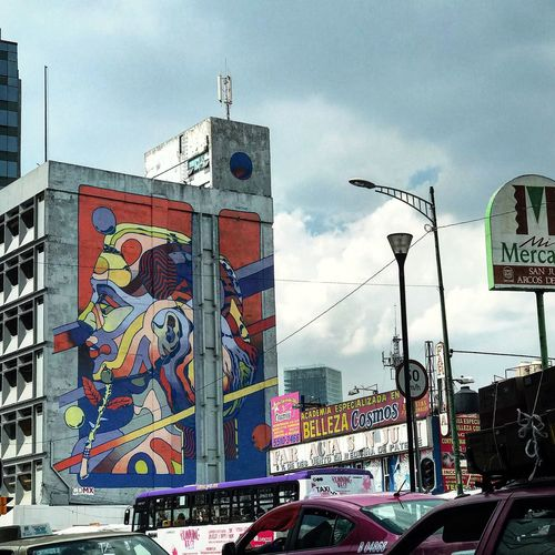 Art Cdmx CDMX. Cdmxart Smithe Streetphotography Urbanphotography Arte Urbano  Mimercado Mercado Photodrive Text Communication Day Sky Built Structure Architecture Road Sign Guidance Transportation Outdoors Land Vehicle No People Building Exterior City