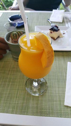 Beverages On The Table Cup Straw Drink Drinks Beverage Mango Mangoshake Mango Shake