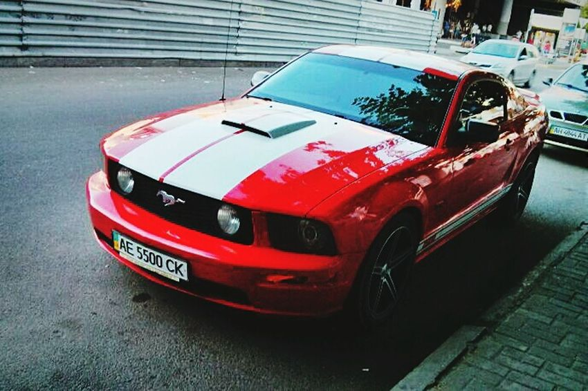 Beauty Car Cars Red Red Car Redcar Mustang Ford Mustang Fordmustang