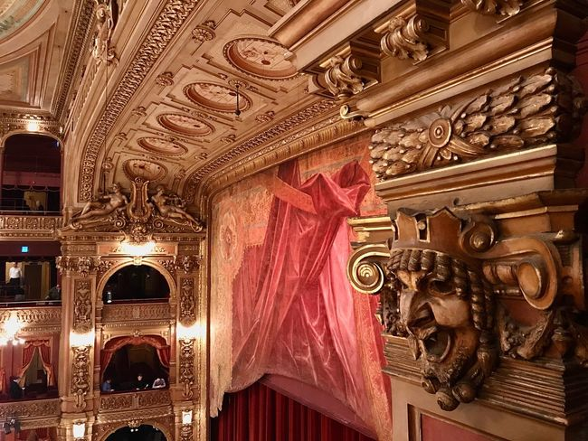 Colon Theater Teatro Colon  Theater Mask Box Seat Curtain Opera House Architecture Built Structure No People History Travel Destinations Day Musical Theater  Indoors  Building Exterior Close-up