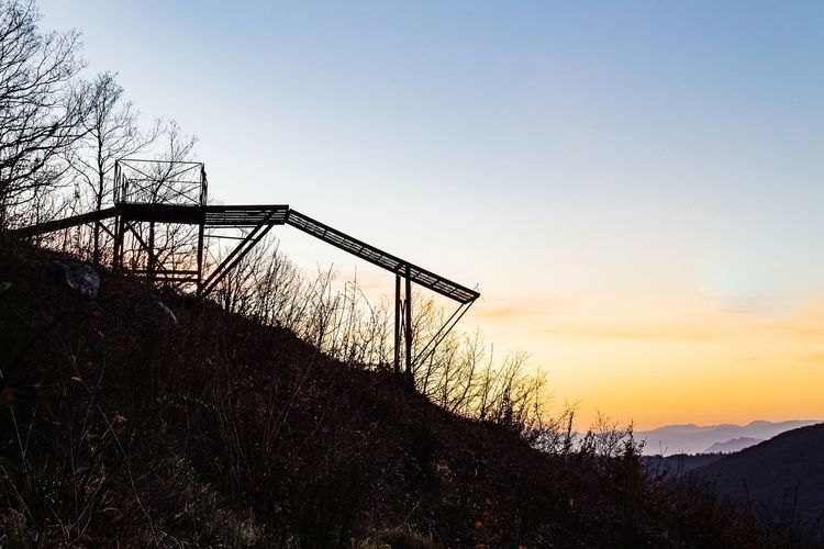 hang glider launching station Art Passion EyeEm Gallery Nature Close-up Hang Gliders Dawn Color Morning Landscapes Nature Structure Iron Point Italy Observation Silhouette Sunset Sky