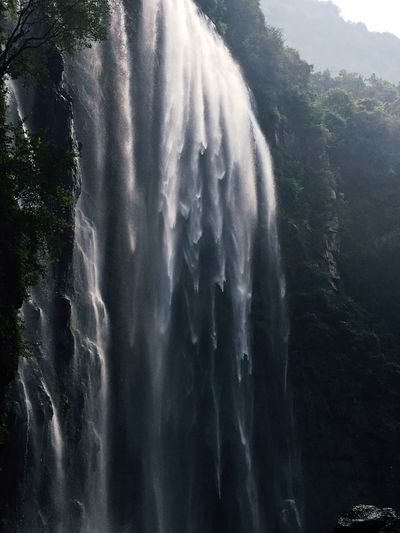 Three Gorges waterfall. Traveling Nature