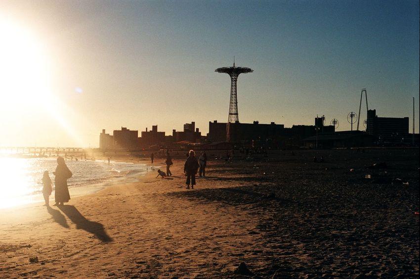 Brooklyn City City Life Coney Island Day Film Photography Filmisnotdead Golden Hour High Contrast Leisure Activity Lifestyles Nature Sky Sun Sunlight Sunny Sunset USA