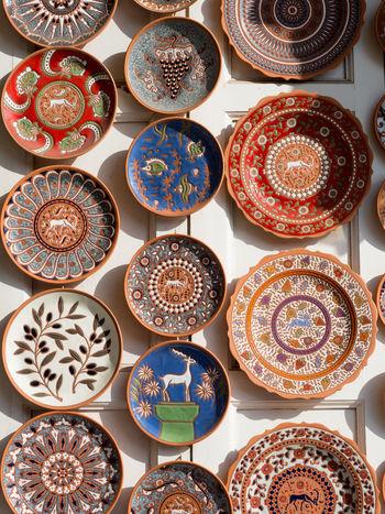 Ceramic Art Ceramics Colorful Decoration Dishes Greece Plates Plates And Bowls Rhodes Rhodos Souvenir Typical