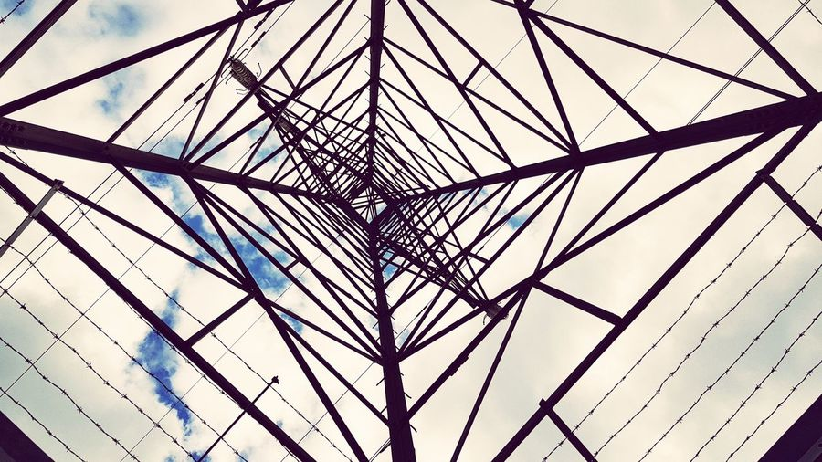 Pylon Pylonporn Pylons And Power Lines Backgrounds Modern Full Frame Sky Architecture Close-up Built Structure Directly Below Geometric Shape Triangle Girder Architectural Detail Architectural Design Upward View Rectangle Spiral Triangle Shape Hexagon