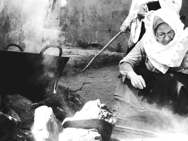 Morocco Sousse Tafraout Idaougnidif Feu Black And White