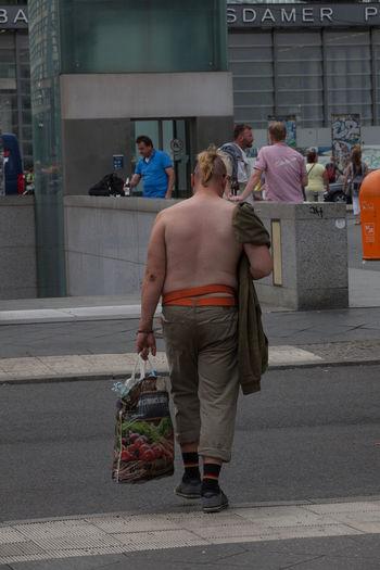 Capture Berlin Carrying Half Naked Metro Station Plastic Bag Potsdamer Platz Punk Punk Is Not Dead Shopping Street Underground Stories From The City #FREIHEITBERLIN