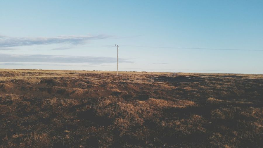 Just a lonely post in the country side Hanging Out Check This Out Icelandicnature Iceland Nature Countryside