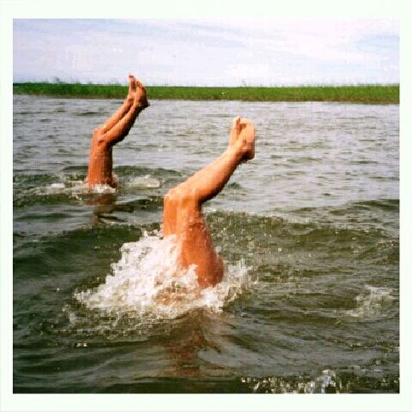 I Want Summer! Summer Life Legs Under Water Uppsidedown Legs In The Air Having Fun