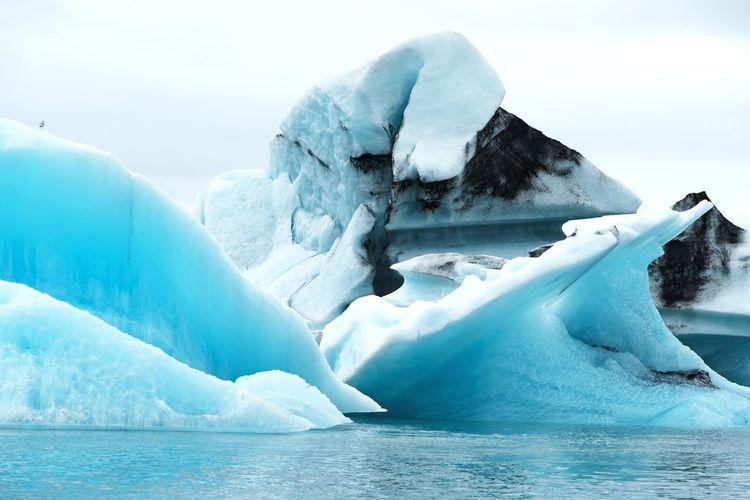 Iceland jökulsarlon glacierlagoon - glacier close up