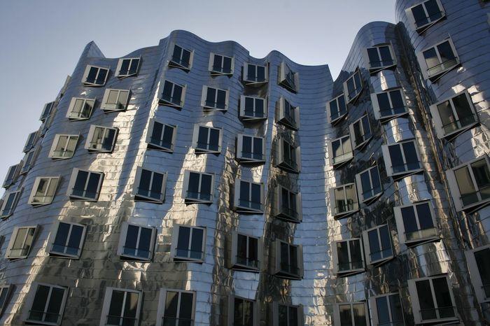 Düsseldorf Am Rhein Germany🇩🇪 The Graphic City Architecture Building Exterior Built Structure Düsseldorf, Medienhafen Rheinland Silver