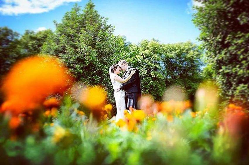 Ross and Julie Happycouple Love Bluesky Flowers Summerwedding Weddingscotland Weddingphotography Weddingphotographer Johncampbellclark
