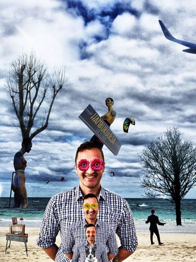 Dalistic Cut And Paste Cloud - Sky Surrealism Dalistic Tree Beach Dog Artphotography Original Photography