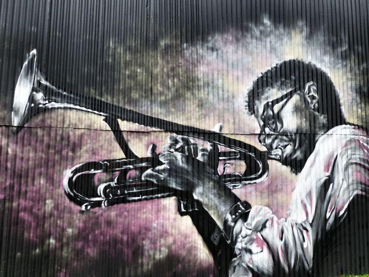 Wall Art Painting Art Jazz Trombone Music