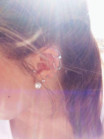 Piercing Girl Brunette Ear Piercing