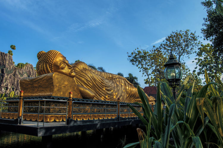 Budha Destination Giant Gold Maha Majapahit Mojokerto No People Outdoors Patung Photography Pray Religion Sleeping Statue Tourism Travel Trowulan Vihara