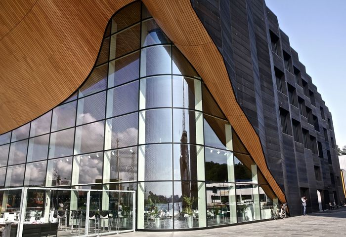 Art's Centre/Cinema Architecture Building Exterior Built Structure Exterior Façade Glass - Material Modern Quayside