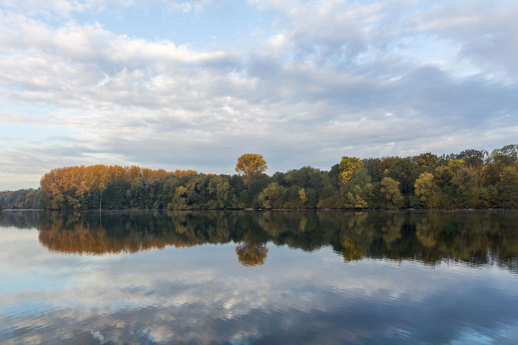 Autumn Beauty In Nature Change Cloud - Sky Day Lake Nature No People Outdoors Reflection Scenics Shore Sky Tranquil Scene Tranquility Tree Water Waterfront