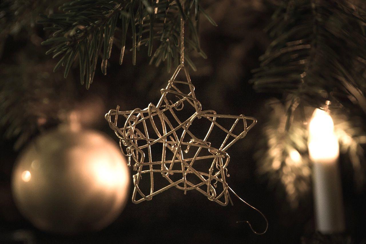 christmas, christmas tree, christmas decoration, celebration, decoration, christmas ornament, hanging, tradition, close-up, no people, bauble, christmas lights, indoors, tree, holiday - event, illuminated, night
