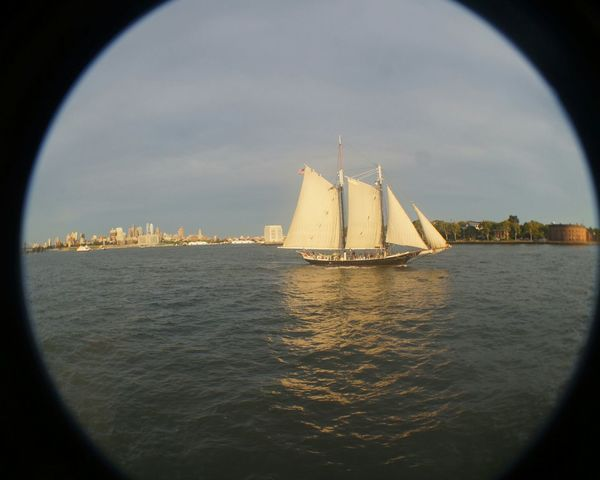 Sailboat Ocean Boat Sailing View Manhattan