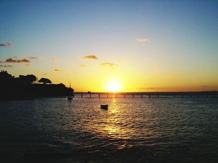 Sunset Sea Sun Water Vacations Reflection Silhouette Beach Beauty In Nature Scenics Nature Tranquility Travel Destinations Horizon Over Water Tranquil Scene Sky Idyllic Outdoors Sunlight Nautical Vessel Salvador Bahia Ribeira Fotography Beauty In Nature Pôr Do Sol.