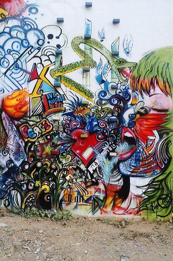 Wall art...college days...cool memories...!! Enjoying Life First Eyeem Photo