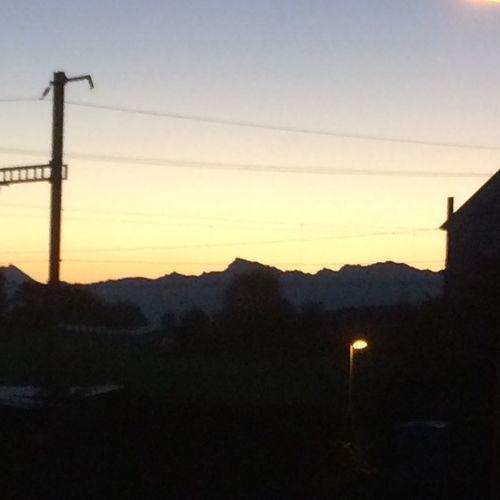 Shadow Sun Mountains Sunrise