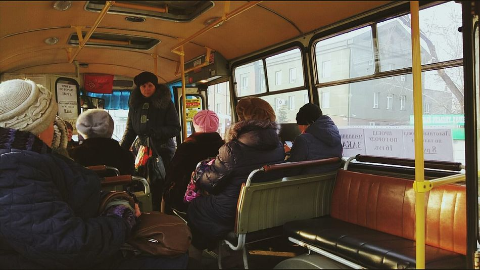 Transportation Vehicle Interior Public Transportation Mode Of Transport Adults Only Adult People Window Travel Passenger Bus Old Ladies Russia