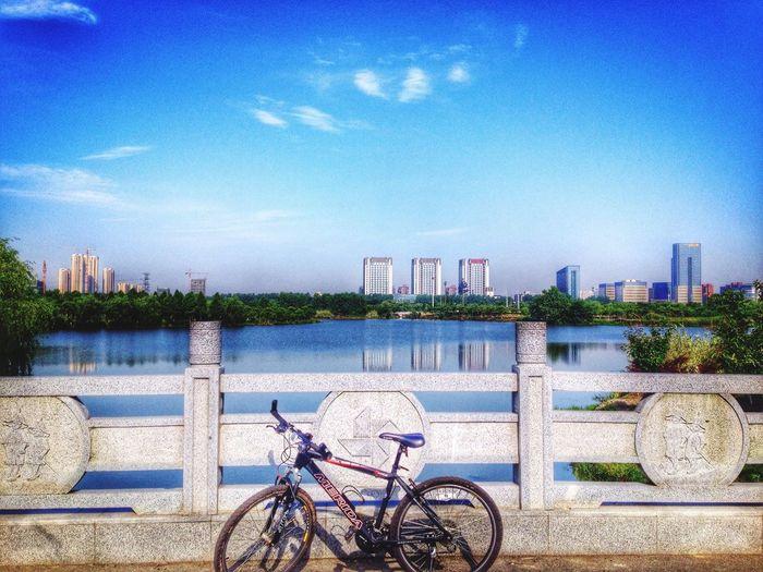 Good morning everybody! Today is nice day! Jiaxing Beautiful Scenery 嘉兴 Garden Hello World City Enjoying Life Lake